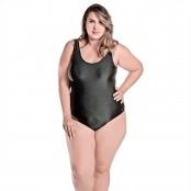 Foto 1 Maiô Body Plus Size Tradicional com Bojo Removível Preto