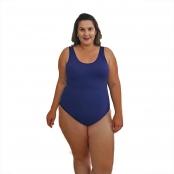 Foto 1 Maiô Natação Plus Size com Bojo Light UV 50+ Azul Marinho