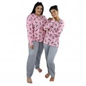 Foto 4 Pijama Longo Feminino Gatinho