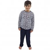 Foto 1 Pijama Longo Infantil Masculino Azul Marinho