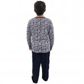 Foto 2 Pijama Longo Infantil Masculino Azul Marinho