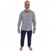 Foto 1 Pijama Longo Masculino Azul Marinho
