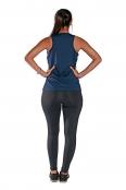 Foto 2 Camiseta Feminina Regata UV 50+ New Trip Azul Marinho