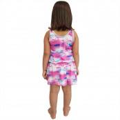 Foto 2 Saída de Praia Infantil Regata Curta com Elástico na Cintura UV 50+ Flamingo