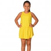 Foto 1 Saída de Praia Infantil Regata Curta com Elástico na Cintura UV 50+ Amarelo
