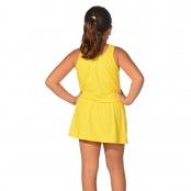 Foto 2 Saída de Praia Infantil Regata Curta com Elástico na Cintura UV 50+ Amarelo