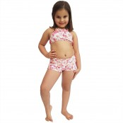 Foto 1 Short Feminino Infantil com Cós Largo Borboleta