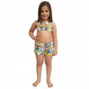 Foto 1 Short Feminino Infantil com Cós Largo Jeans