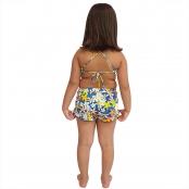 Foto 2 Short Feminino Infantil com Cós Largo Jeans