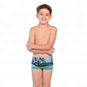 Foto 1 Sunga Infantil Boxer Havaí