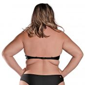 Foto 2 Top de Praia Plus Size Cropped Preto