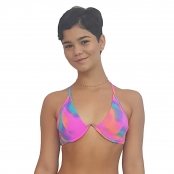 Foto 1 Top de Praia Frente Única com aro em V Tie Dye