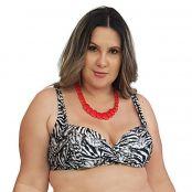 Foto 1 Top de Praia Plus Size Meia Taça com Bojo Zebra