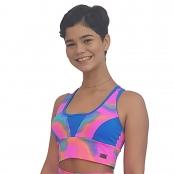 Foto 1 Top Fitness com Bojos e Alças Finas Duplas Tie Dye