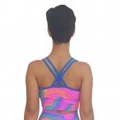 Foto 2 Top Fitness com Bojos e Alças Finas Duplas Tie Dye