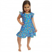 Foto 1 Vestido Infantil de Lycra Sorvete Azul