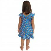 Foto 2 Vestido Infantil de Lycra Sorvete Azul