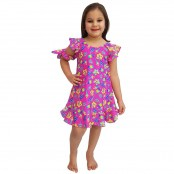 Foto 1 Vestido Infantil de Lycra Sorvete Rosa