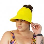 Foto 2 Viseira Turbante com Proteção UV 50+ Amarelo