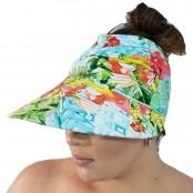 Foto 1 Viseira Turbante com Proteção UV 50+ Quadriculado