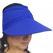 Foto 1 Viseira Turbante com Proteção UV 50+ Azul Bic
