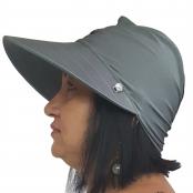 Foto 2 Viseira Turbante com Proteção UV 50+ Cinza