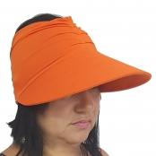Foto 1 Viseira Turbante com Proteção UV 50+ Laranja