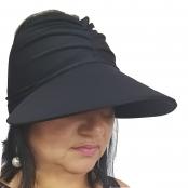 Foto 1 Viseira Turbante com Proteção UV 50+ Preta