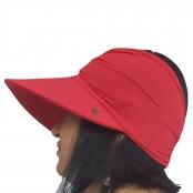 Foto 2 Viseira Turbante com Proteção UV 50+ Vermelha