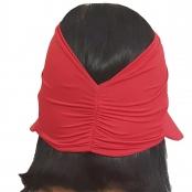 Foto 3 Viseira Turbante com Proteção UV 50+ Vermelha