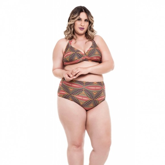 Biquini Plus Size Regina Stewardess Estampa Mandala
