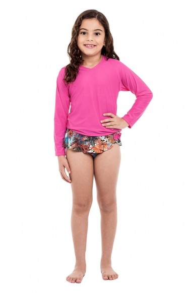 Blusa Uv Infantil Stewardess Pink
