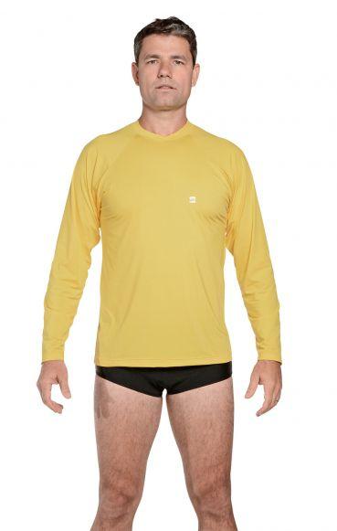 Camiseta Masculina Uv Praia Amarela