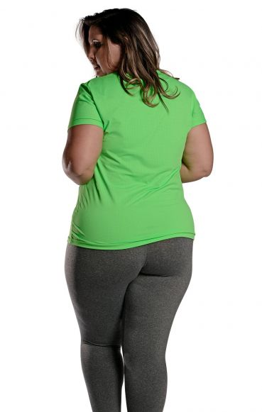 Camiseta Plus Size New Trip Verde Florescente