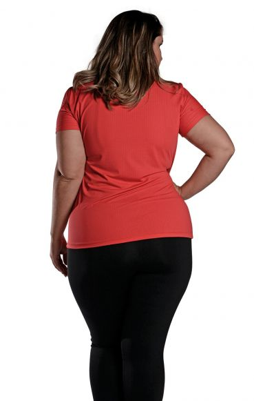 Camiseta Plus Size New Trip Vermelha