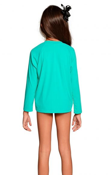 Camiseta Uv Praia Infantil Feminina Verde Nanai