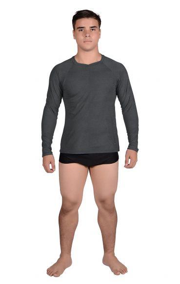 Camiseta Masculina Uv Praia Teen Cinza
