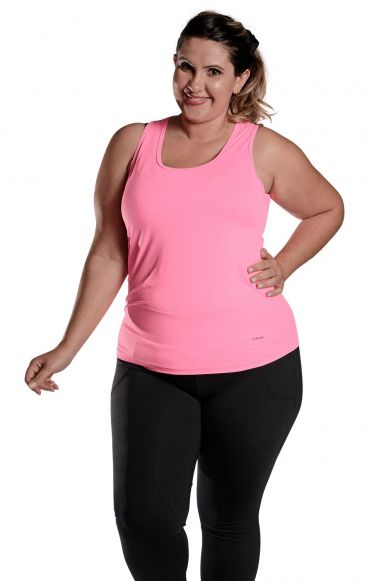 Regata Plus Size New trip Rosa Florescente