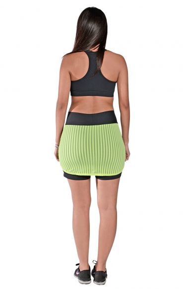 Short Saia Bolso New Zealand Verde Florescente