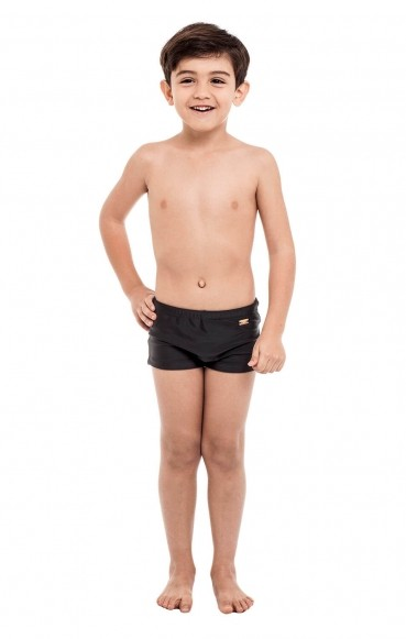 Sunga Boxer Stewardess Infantil Preto