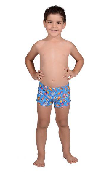 Sunga Infantil Boxer Sorvete Azul