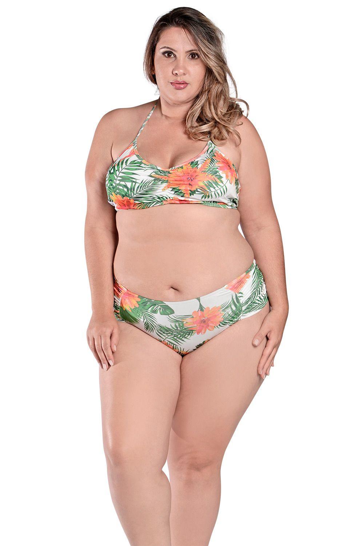 Biquíni Plus Size Frente Única Marcia Bromelia