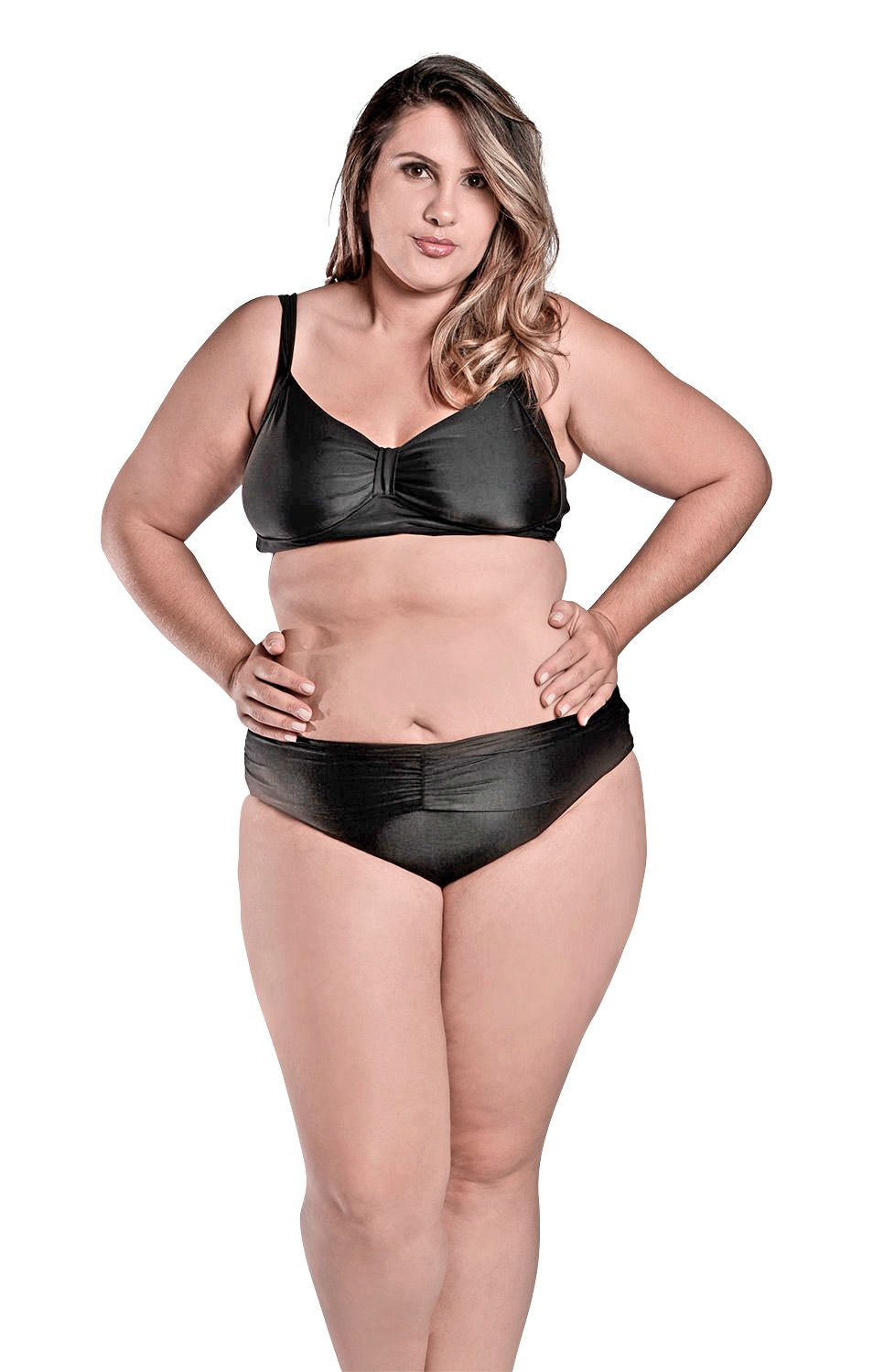 847849c9f Biquíni PLus Size Top Vanessa Preto - Stewardess ...