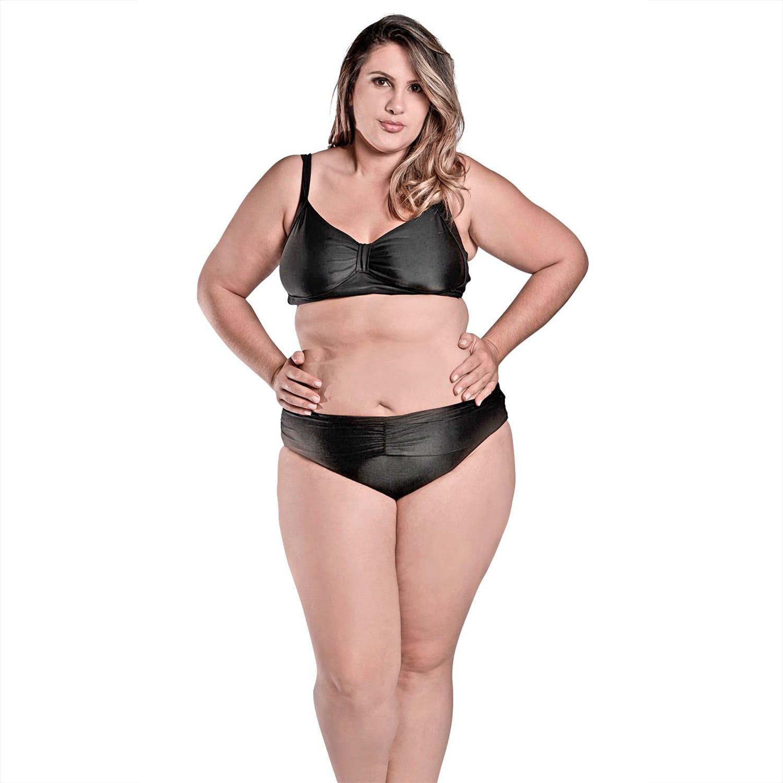 Biquíni PLus Size Top Vanessa Preto