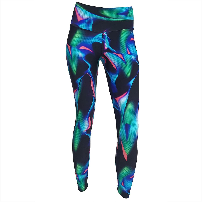 Calça Legging com Cós Alto Lycra Aurora Boreal