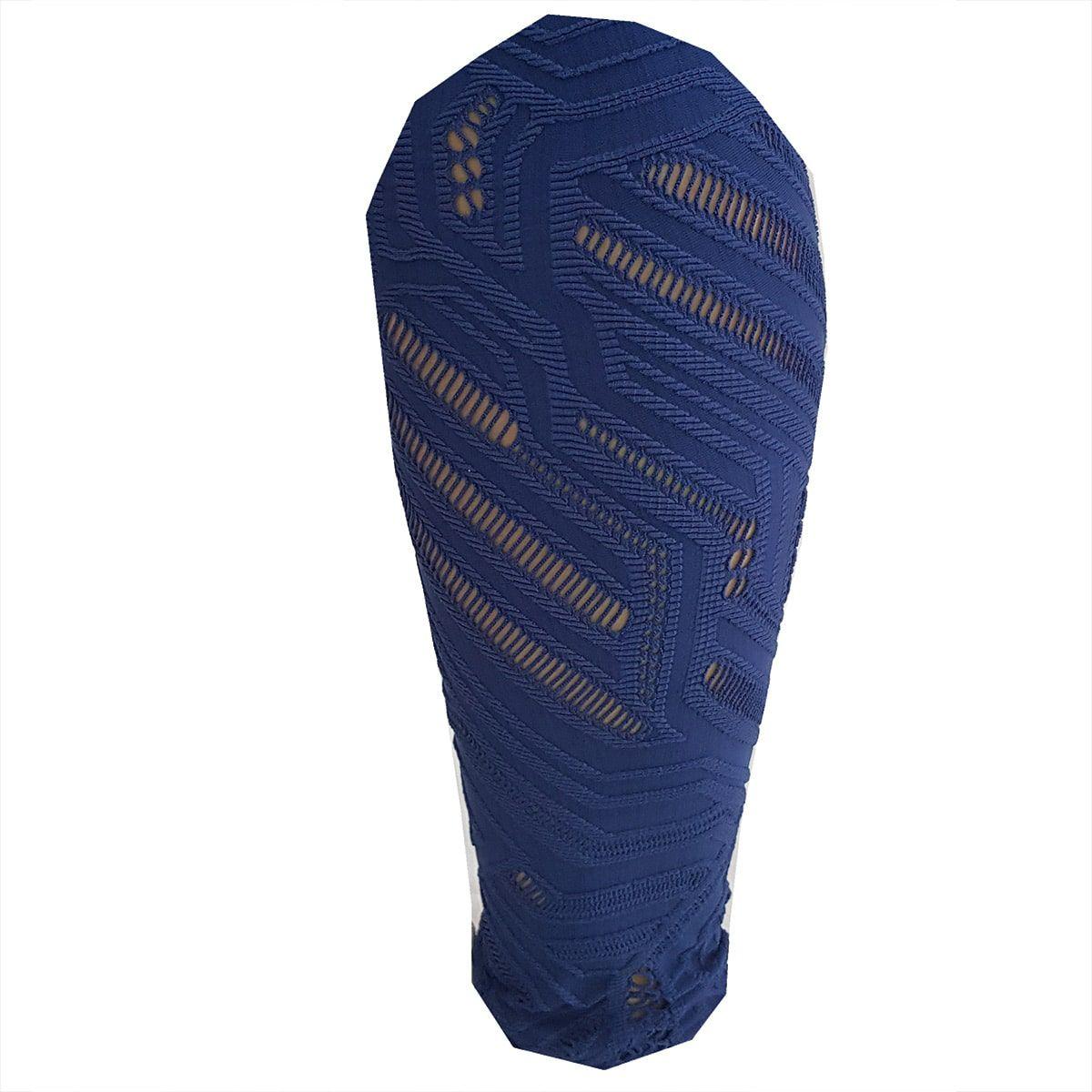 Calça Legging Jacquard Azul Marinho