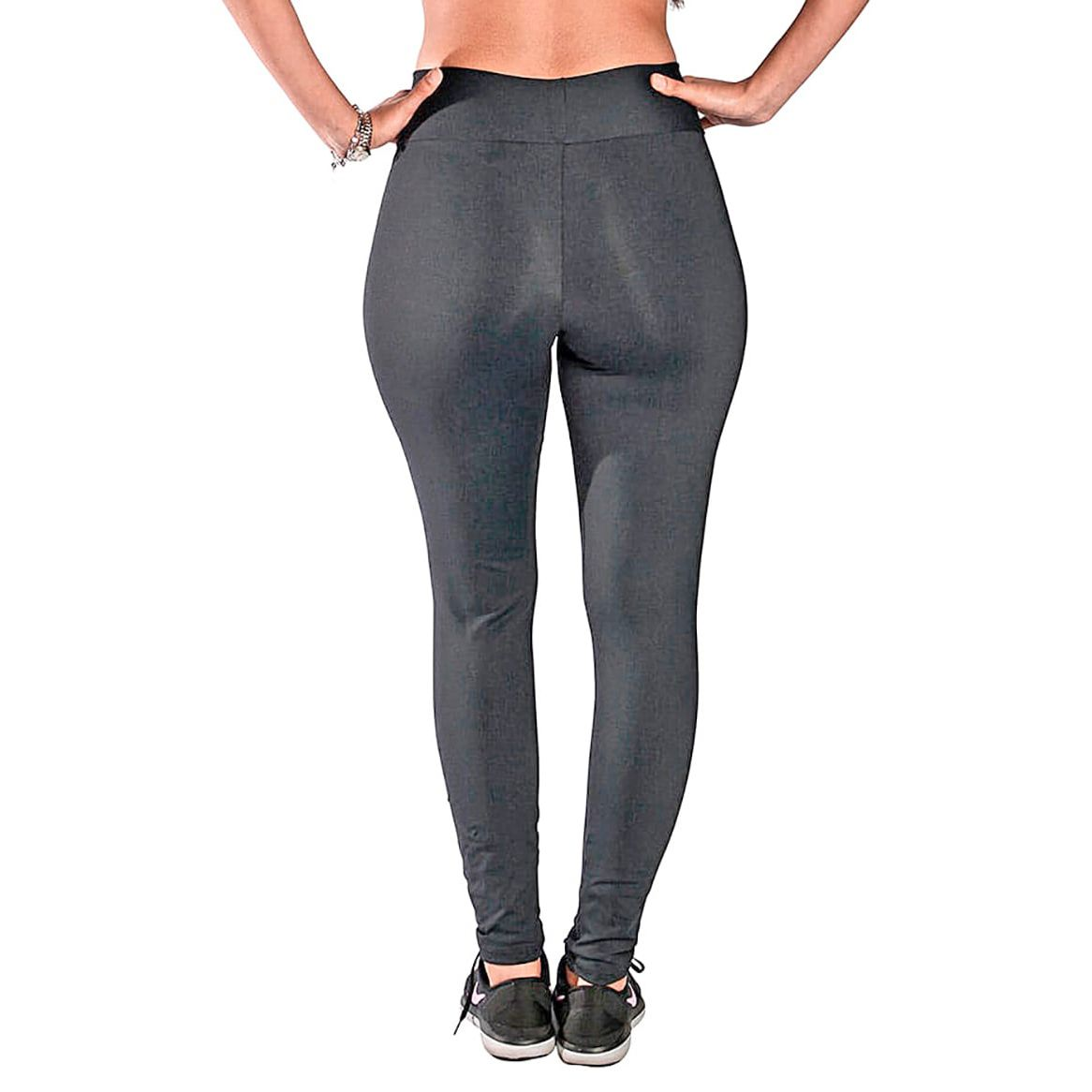 Calça Legging com Cós Alto New Zealand Preto