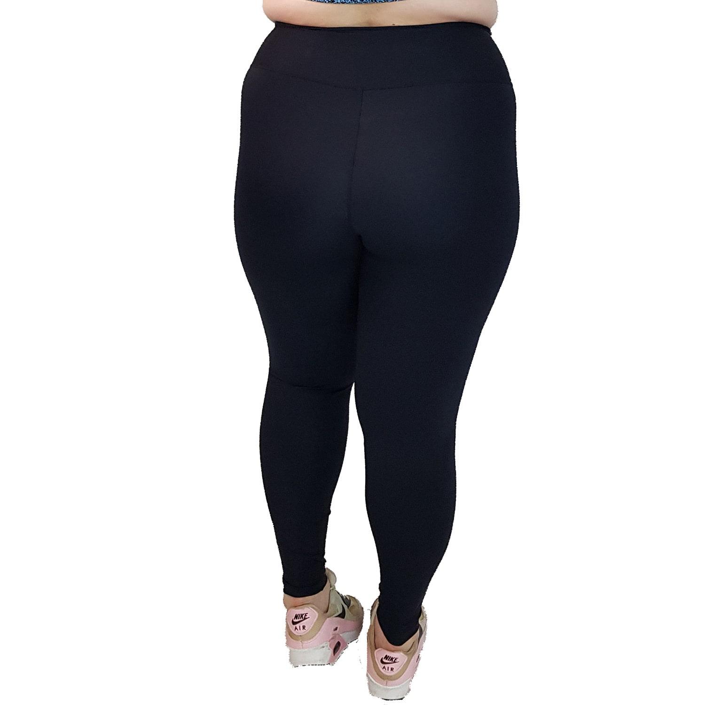 Calça Legging Plus Size com Cós Alto Suplex Preto