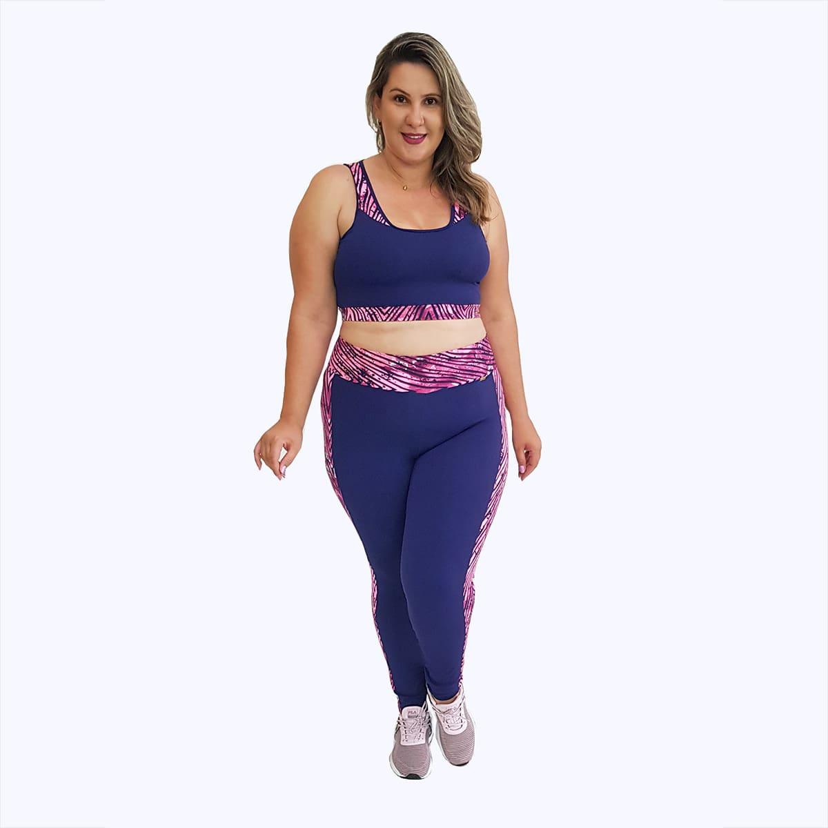 Calça Legging Plus Size Nakai Azul Marinho