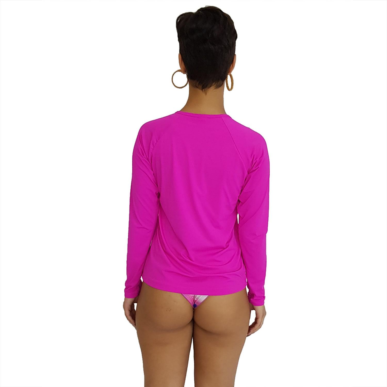 Camiseta Feminina Manga Longa UV 50+ Pink